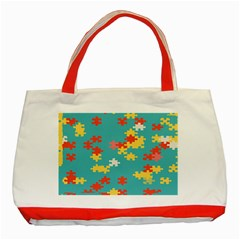 Puzzle Pieces Classic Tote Bag (Red)