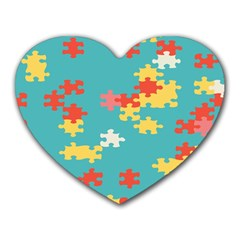 Puzzle Pieces Mouse Pad (heart)