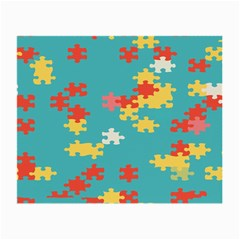 Puzzle Pieces Glasses Cloth (small, Two Sided)