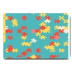 Puzzle Pieces Large Door Mat