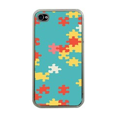 Puzzle Pieces Apple Iphone 4 Case (clear)
