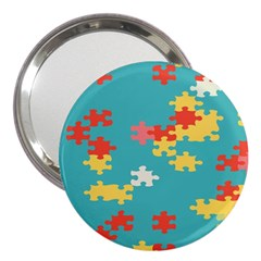 Puzzle Pieces 3  Handbag Mirror
