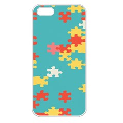 Puzzle Pieces Apple Iphone 5 Seamless Case (white)
