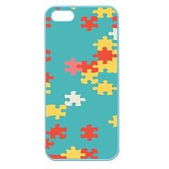 Puzzle Pieces Apple Seamless Iphone 5 Case (color)