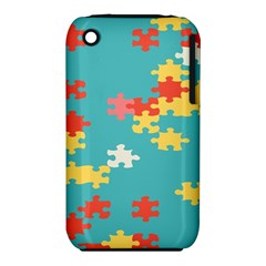Puzzle Pieces Apple iPhone 3G/3GS Hardshell Case (PC+Silicone)