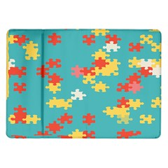 Puzzle Pieces Samsung Galaxy Tab 10 1  P7500 Flip Case