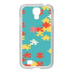 Puzzle Pieces Samsung GALAXY S4 I9500/ I9505 Case (White)
