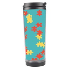 Puzzle Pieces Travel Tumbler