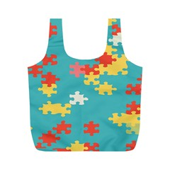 Puzzle Pieces Reusable Bag (m)
