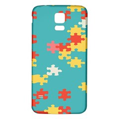 Puzzle Pieces Samsung Galaxy S5 Back Case (white)