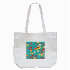 Puzzle Pieces Tote Bag (White)