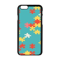 Puzzle Pieces Apple iPhone 6 Black Enamel Case