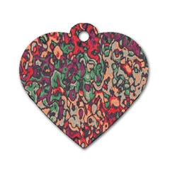 Color Mix Dog Tag Heart (one Side)