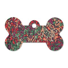 Color mix Dog Tag Bone (Two Sides)