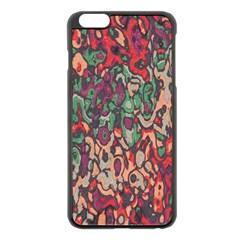 Color mix Apple iPhone 6 Plus Black Enamel Case