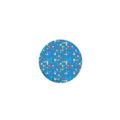 Colorful Squares Pattern 1  Mini Button