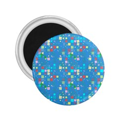 Colorful squares pattern 2.25  Magnet