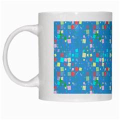 Colorful Squares Pattern White Mug