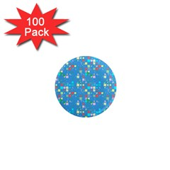 Colorful Squares Pattern 1  Mini Magnet (100 Pack)