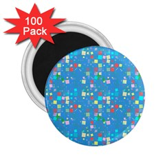 Colorful Squares Pattern 2 25  Magnet (100 Pack)