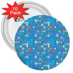 Colorful Squares Pattern 3  Button (10 Pack)