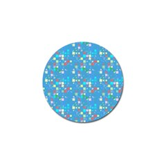 Colorful Squares Pattern Golf Ball Marker