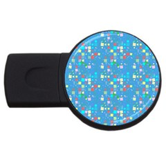 Colorful Squares Pattern Usb Flash Drive Round (2 Gb)