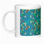 Colorful squares pattern Night Luminous Mug Left