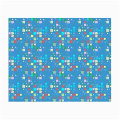 Colorful Squares Pattern Glasses Cloth (small, Two Sides)