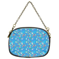 Colorful Squares Pattern Chain Purse (two Sides)