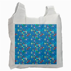 Colorful Squares Pattern Recycle Bag (two Side)