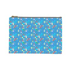 Colorful Squares Pattern Cosmetic Bag (large)
