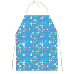 Colorful Squares Pattern Full Print Apron