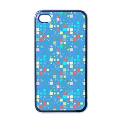 Colorful Squares Pattern Apple Iphone 4 Case (black)
