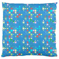 Colorful Squares Pattern Large Cushion Case (two Sides)
