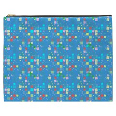 Colorful Squares Pattern Cosmetic Bag (xxxl)