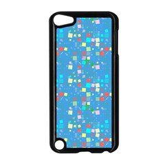 Colorful squares pattern Apple iPod Touch 5 Case (Black)