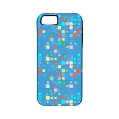 Colorful Squares Pattern Apple Iphone 5 Classic Hardshell Case (pc+silicone)