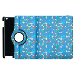 Colorful squares pattern Apple iPad 3/4 Flip 360 Case