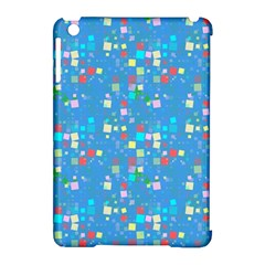 Colorful squares pattern Apple iPad Mini Hardshell Case (Compatible with Smart Cover)