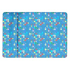 Colorful squares pattern Samsung Galaxy Tab 10.1  P7500 Flip Case