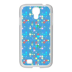 Colorful squares pattern Samsung GALAXY S4 I9500/ I9505 Case (White)