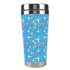Colorful Squares Pattern Stainless Steel Travel Tumbler