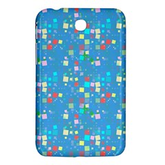 Colorful Squares Pattern Samsung Galaxy Tab 3 (7 ) P3200 Hardshell Case