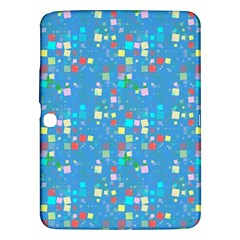 Colorful squares pattern Samsung Galaxy Tab 3 (10.1 ) P5200 Hardshell Case