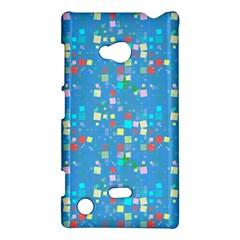Colorful Squares Pattern Nokia Lumia 720 Hardshell Case