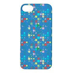 Colorful squares pattern Apple iPhone 5S Hardshell Case