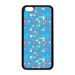 Colorful squares pattern Apple iPhone 5C Seamless Case (Black)