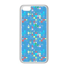 Colorful Squares Pattern Apple Iphone 5c Seamless Case (white)