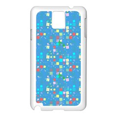 Colorful squares pattern Samsung Galaxy Note 3 N9005 Case (White)